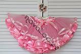 Розовая фатиновая пышная юбка  для девочки, фото 5