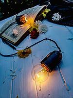 РЕТРО ГИРЛЯНДА 14 ламп 7 метров черный цвет, Ретро гирлянды из ламп накаливания!!!