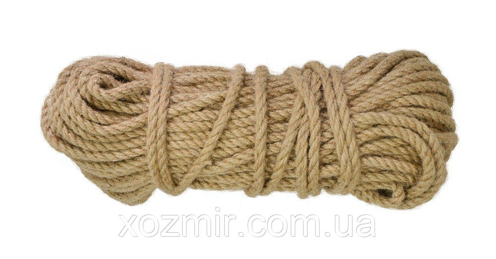 Веревка джутовая 6мм