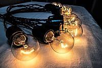 РЕТРО ГИРЛЯНДА 14 ламп 7 метров, ретро гирлянды из ламп накаливания!!!