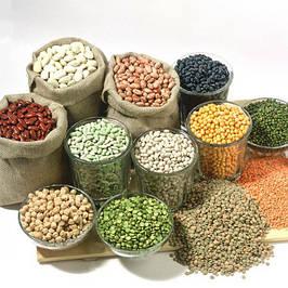 Крупы, злаки, семена и бобовые