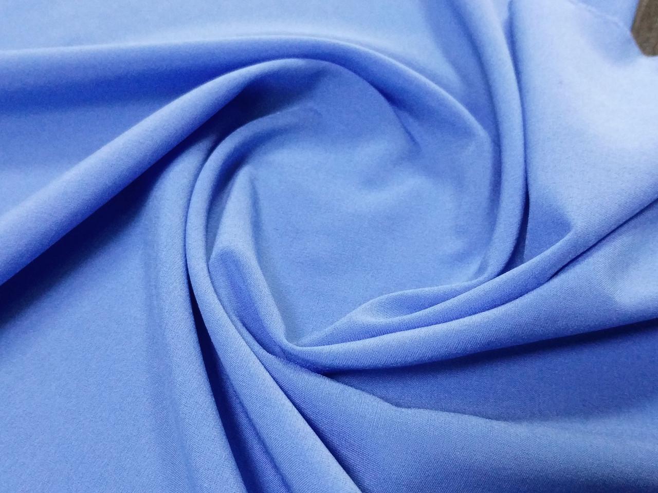 Вискоза софт однотонная, голубой