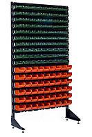 Витрина с пластмассовыми боксами 1.8 м Зелено-оранжевый Александрия