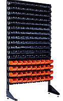 Перфорированный стеллаж с ящиками для хранения Чёрно-оранжевый Артёмовск (Кипучее)
