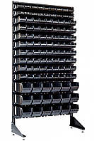 Торговый стеллаж с ящиками 1.8 м Чёрный Барановка, фото 1