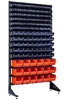 Стеллаж-Витрина открытого типа Чёрно-оранжевый Бережаны, фото 1