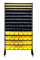 Стеллаж в комплекте с ящиками 1.8 м Украина, Чёрно-желтый Березно, фото 1