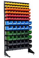 Металлический шкаф под ящики Пласт Бокс, Чёрный Вашковцы, фото 1