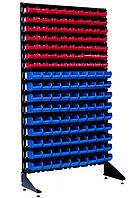 Стеллаж складской металлические 1000*360*1800 мм Пласт Бокс, Чёрный Волноваха