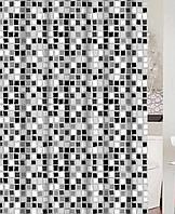 """Штора для ванной с кольцами """"Парадайс"""" точный размер 180x200 см, код 20432"""