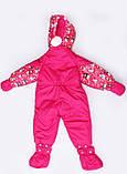 Зимовий комбінезон трансформер для новонароджених дівчаток, фото 3