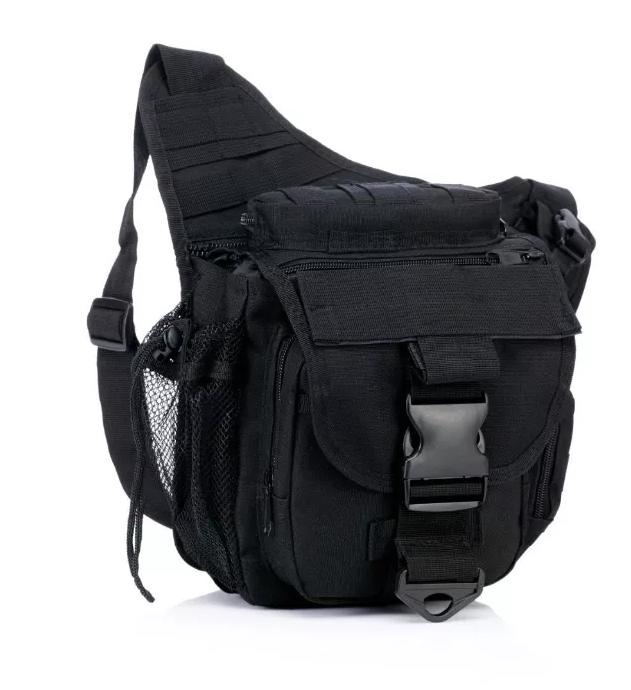 Тактическая сумка с креплением системы MOLLE TacticBag Черная
