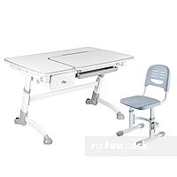 Комплект подростковая парта Amare Grey с выдвижным ящиком + детский стул SST3 Grey FunDesk , фото 1