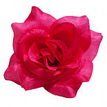 Головка Троянда середня шовк, 10см ( 50 шт в уп), фото 4