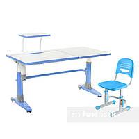 Комплект подростковая парта для школы Ballare Blue + детский стул SST3 Blue FunDesk