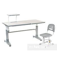 Комплект подростковая парта для школы Ballare Grey + детский стул SST3 Grey FunDesk
