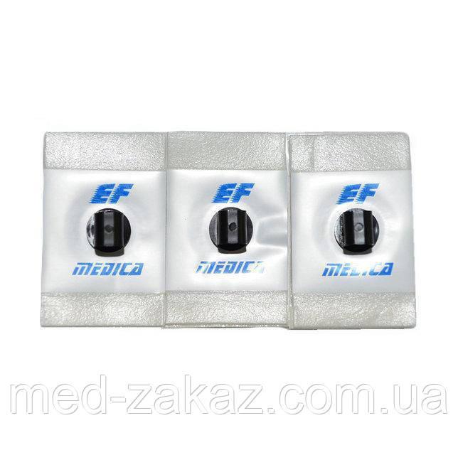 Электрод одноразовый для ЭКГ (соединение - банан) с адгезионной пены 28x44 мм - 4 мм адаптер - жидкий гель