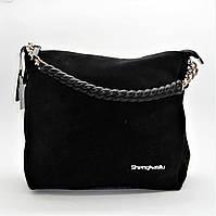 Превосходная женская сумочка черного цвета (замша) ВВВ-200117, фото 1