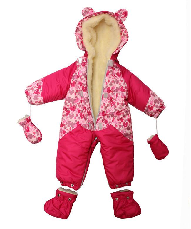 Гарний зимовий комбінезон і конверт 2в1 для новонароджених