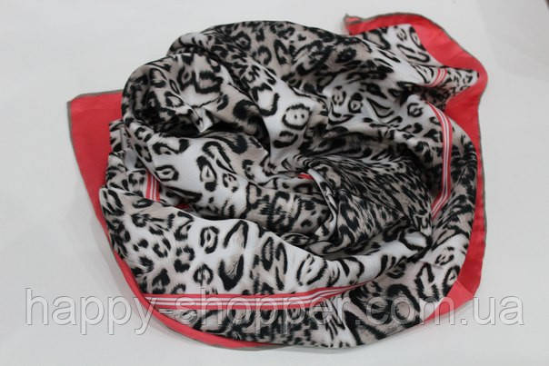 Шелковый леопардовый платок