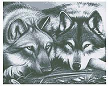 ВКВ-194. Схема для вишивки бісером Вовки