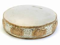 Мандала. Медная. 13 см. 8 символов. Золото и Серебро. Непал