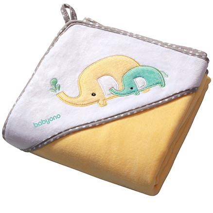 Полотенце для купания. Уголок baby one велюр 100×100 см