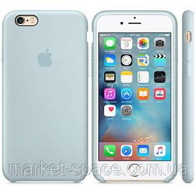 """Чехол силиконовый для iPhone 6 Plus/6S Plus. Apple Silicone Case, цвет """"Бирюзовая пастель"""", фото 2"""