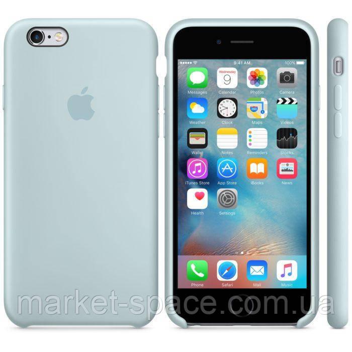 """Чехол силиконовый для iPhone 6 Plus/6S Plus. Apple Silicone Case, цвет """"Бирюзовая пастель"""""""