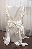 """Набор """"УТРО НЕВЕСТЫ""""  халат с надписью Bride и накидка на стул в подарочной упаковке"""