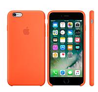 """Чехол силиконовый для iPhone 6 Plus/6S Plus. Apple Silicone Case, цвет """"Оранжевый шафран"""""""