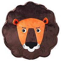 DJUNGELSKOG Подушка дитяча, лев, коричнева 303.937.46