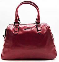 Женская сумка из натуральной кожи красного цвета ВВВ-200311, фото 1