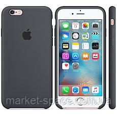 """Чехол силиконовый для iPhone 6 Plus/6S Plus. Apple Silicone Case, цвет """"Серый уголь"""", фото 3"""