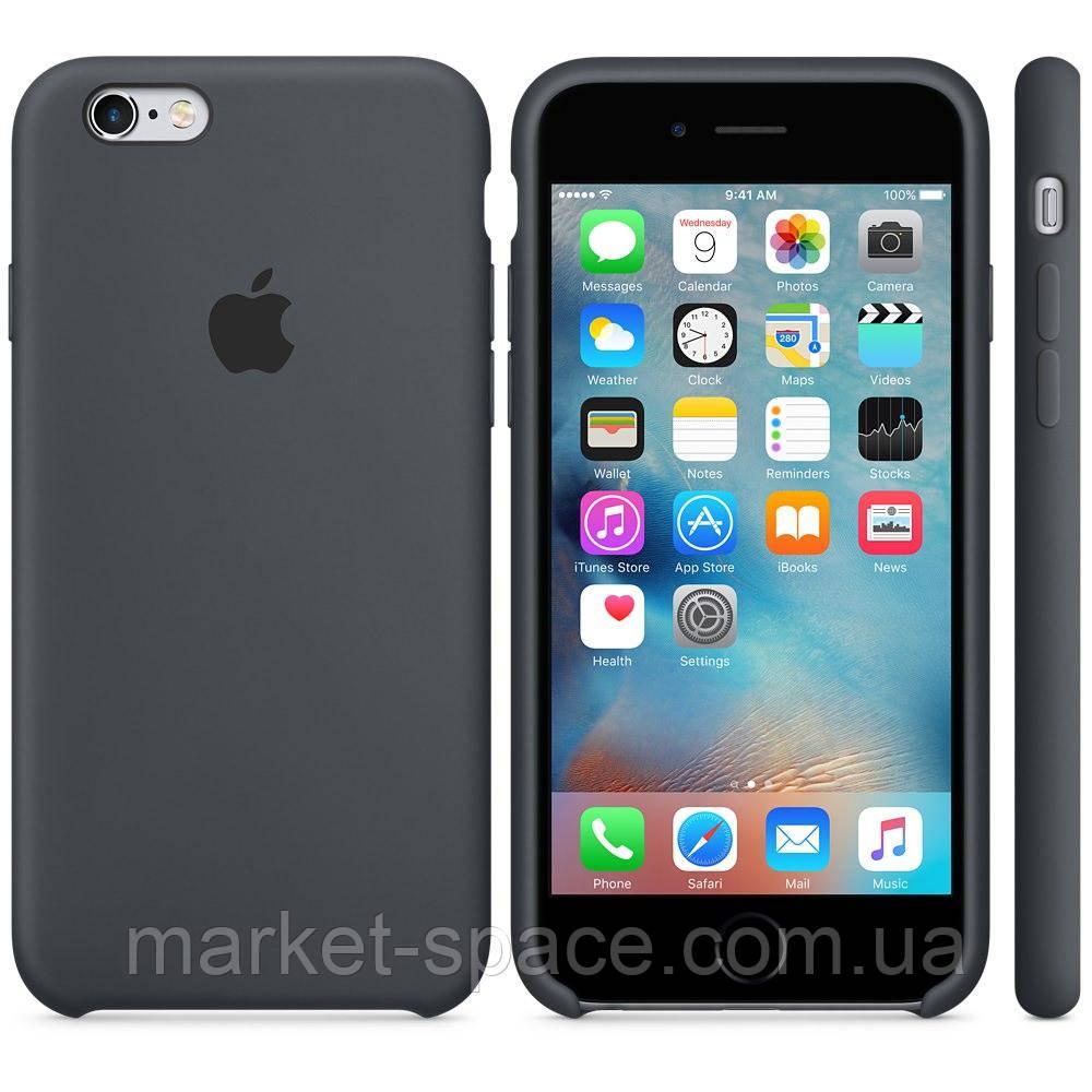 """Чехол силиконовый для iPhone 6 Plus/6S Plus. Apple Silicone Case, цвет """"Серый уголь"""""""
