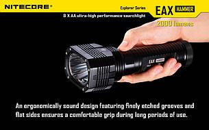 Фонарь Nitecore EAX (2xCree XM-L2 T6, 2000 люмен, 8 режимов, 8xAA), фото 2