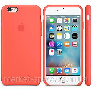 """Чехол силиконовый для iPhone 6 Plus/6S Plus. Apple Silicone Case, цвет """"Спелый абрикос"""", фото 2"""