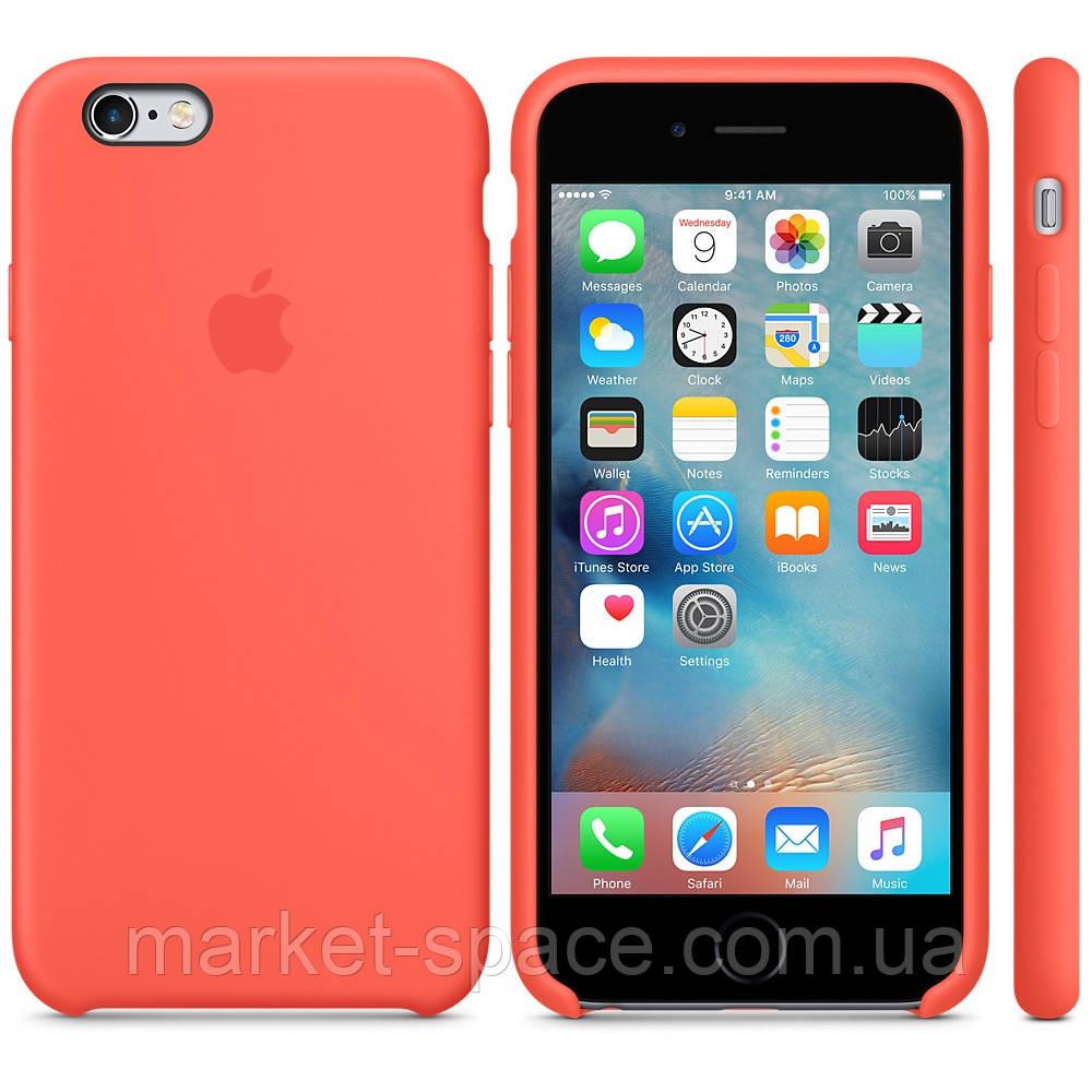 """Чехол силиконовый для iPhone 6 Plus/6S Plus. Apple Silicone Case, цвет """"Спелый абрикос"""""""