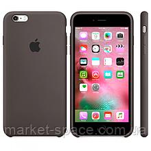 """Чехол силиконовый для iPhone 6 Plus/6S Plus. Apple Silicone Case, цвет """"Темно-коричневый"""""""