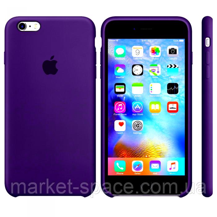 """Чехол силиконовый для iPhone 6 Plus/6S Plus. Apple Silicone Case, цвет """"Ультрафиолет"""""""