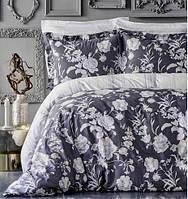 Karaca Home сатин Elvira antrasit 2019-1 евро комплект постельного белья, фото 1