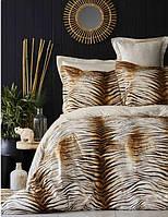 Karaca Home сатин Sumatra kahve 2019-1 евро комплект постельного белья