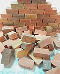 Кирпичики к конструктору красные прямоугольные 20х10х8мм 210шт, фото 3