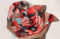 Платок с цветами (шелк - масло), фото 1