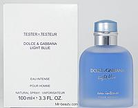 Тестер туалетная вода Dolce Gabbana Light Blue Eau Intense Pour Homme
