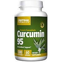 Куркумин 95 (Curcumin), Jarrow Formulas, 500 мг, 60 капсул