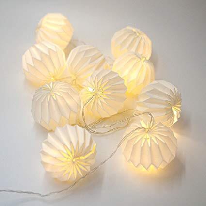 Гирлянда Decorino Venezia Paper Balls 10led, диам 7.5см, длина 235см на батарейках АА