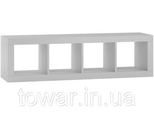 Книжкова шафа KALAX 1x4 колір білий