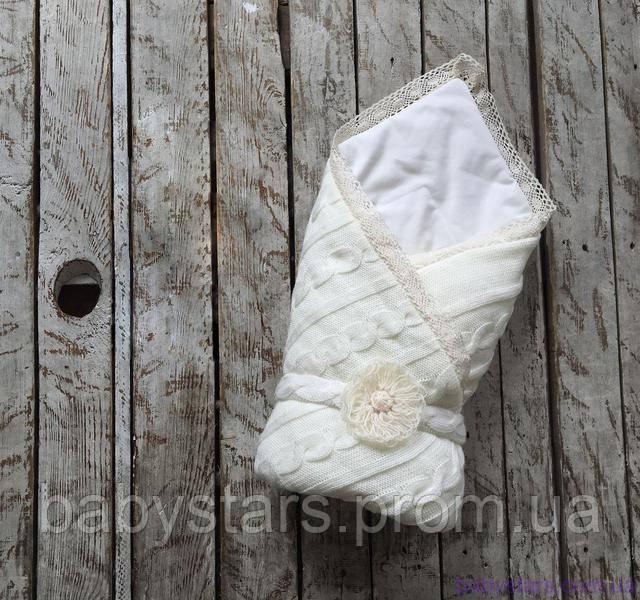 вязаный конверт-одеяло