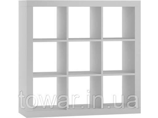 Книжный шкаф  KALAX 3 x3 цвет белый